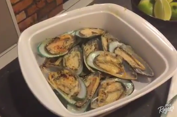 Half Shell Lime, Chilli and Garlic Mussels