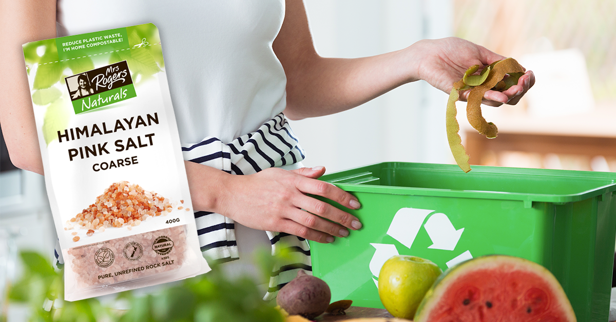 Our new packs are Home Compostable! This is just the start...